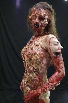 The Face of Fear. Amazing Makeup FX work by Kelly Odell. Ph The Face of Fear. Amazing Makeup FX work by Kelly Odell. Horror Makeup, Scary Makeup, Sfx Makeup, Costume Makeup, Face Makeup, Maquillage Sf, Maquillage Halloween, Arte Horror, Horror Art
