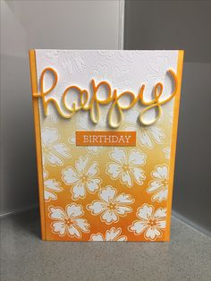 Hello you stampin up happy birthday card