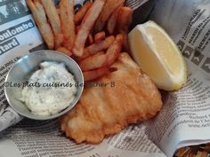 Les plats cuisinés de Esther B: Fish and chips de Marilou Fish And Chips, Beer Battered Fish, Esther, How To Cook Fish, C'est Bon, Cheese, Cooking Fish, Pizza, Food
