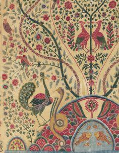 Robert Hadley — A PALAMPORE - COROMANDEL COAST, SOUTH INDIA,... Indian Aesthetic, Aesthetic Vintage, Textile Prints, Textile Design, Chintz Fabric, Chinese Element, Batik Pattern, Bohemian Pattern, Border Design