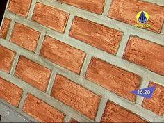 Santa Receita | Aprenda a fazer o efeito tijolinho na textura da parede!...