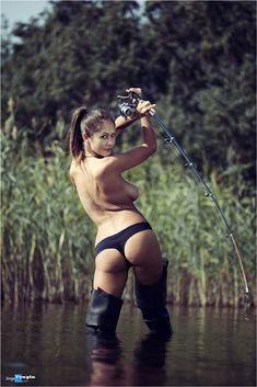Redneck women fishing nude commit error