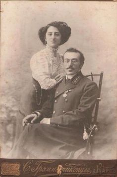 Harutyun Alajajyan with his wife Eghsabet in Kars