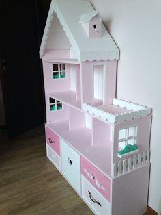Кукольный дом ручной работы. Кукольный домик стеллаж 6-комнатные апартаменты с террасой. Pituka. Ярмарка Мастеров. Кукла, стеллаж