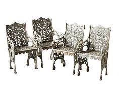 Antique Garden Chairs and Benches - Garden Sculpture and Antiques Fair - House Beautiful