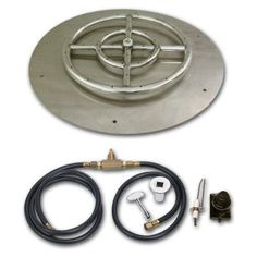American Fireglass Round Stainless Steel Flat Pan with Spark Ignition Kit - SS-RFPKIT-P-12, Durable
