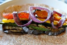 Grilled veggie wrap- Ok i am seriously in love with this site!
