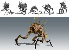 Creature development for an internal R&D project. The project was a fantasy adventure game centered around cooperative combat and driven by story. Monster Characters, Video Game, Wolf, Creatures, Fantasy, Adventure Game, Game Ideas, Art, Concept