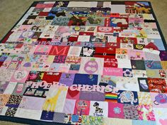 Baby Clothes Quilt from jellybeanquilts.com - now you know what to do with all of the clothes you have in that bin in your closet!