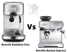 Breville Bambino Plus vs Barista Express - Which one to Choose? Breville Espresso Machine, Espresso Machine Reviews, Maker Labs, Espresso Drinks, Cooking Appliances, Stainless Steel Material, Latte Art, Wood Cutting, Barista