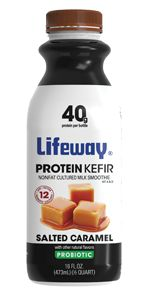 With 20 grams of protein per serving, Lifeway Protein Kefir is the perfectway topromote muscle recovery. It's a probiotic-plus-protein punch utilizing the carbohydrates in kefir toincrease protein absorption, while providing the immunity-enhancing benefits of our12 live andactive probiotic cult
