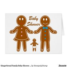 Gingerbread Family Baby Shower Invitation