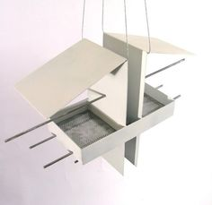 Duo Bird Feeder in White by joepapendick on Etsy. Just love the modern look and retro style of this.