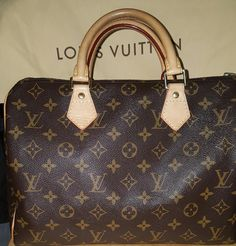 Louis Vuitton Monogram Speedy 30 Brown Satchel.