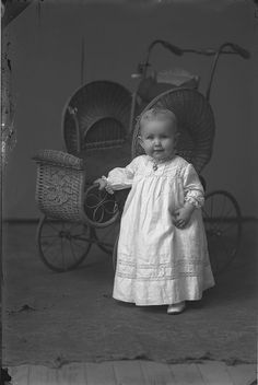 Baby in christening gown, c. 1900