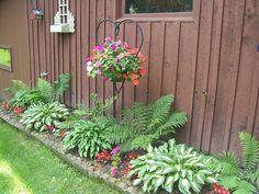 shade garden enhanced with containers fine gardening hometalk gardening pinterest gardens copper and flower - Shaded Flower Garden Ideas