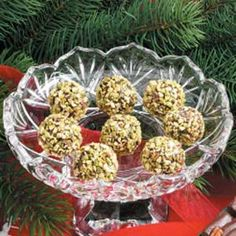 Christmas Candies  Oh, so easy to make and you can use any kind of nuts to roll these balls in... very easy and quick to make....