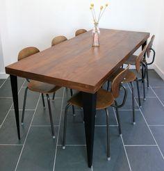 Foundry Tableau n ° 2 régénéré Iroko & Black Steel ** Made to Order **