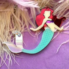 The Little Mermaid Laser Cut Acrylic Necklace ==== this touches something deep within my soul