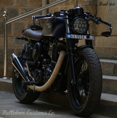 Rudra - Brat Style Royal Enfield Thunderbird by Bulleteer Customs | 350CC.com