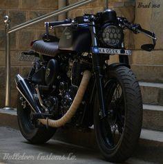 Rudra - Brat Style Royal Enfield Thunderbird by Bulleteer Customs | 350CC.com
