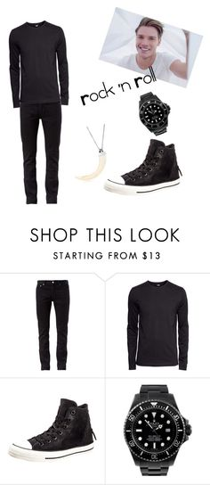 """Jace. Shopping."" by badsebslands ❤ liked on Polyvore featuring BLK DNM, H&M, Converse, Rolex and Manuel Bozzi"