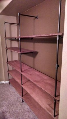 Entertainment Centernot Quite Finished Steel Pipe Shelving Plywood Fashion