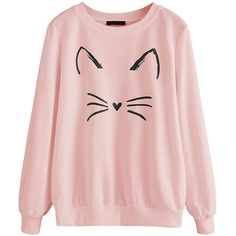 Here's an adorable sweatshirt that comes in a variety of colours, sizes and designs. #cat #sweatshirt