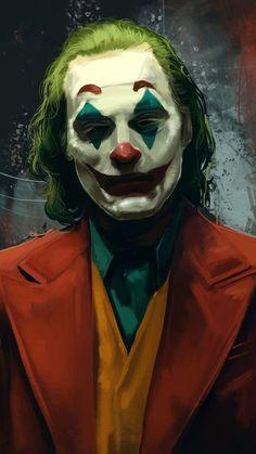 Joaquin Phoenix In Joker wallpaper green red Joker Cartoon, Joker Comic, Joker Film, Joker Art, Comic Art, Joker Hd Wallpaper, Joker Wallpapers, Joker Images, Cartoon Images