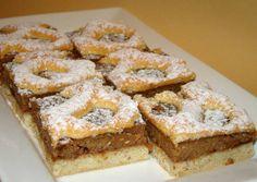Berliner szelet   Antukné Ildikó receptje - Cookpad receptek Hungarian Desserts, Hungarian Cake, Hungarian Recipes, Hungarian Food, Romanian Food, Salty Snacks, Bread And Pastries, Cookie Desserts, Something Sweet