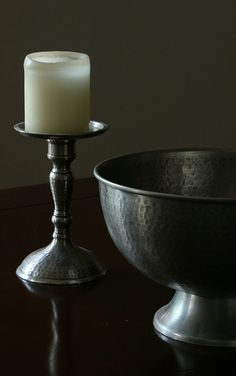 still life bowl candle