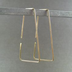 14K Yellow Gold Filled Hoop Earrings Flares by ModernChromatic