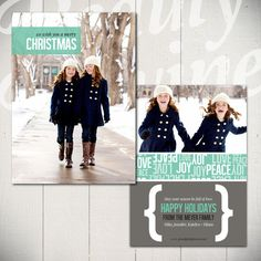 Christmas Card Template Full of Love B  5x7 by BeautyDivineDesign, $8.00