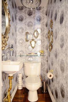 toilet, wall, frame: Jae & Devin's Labor of Love in Brooklyn