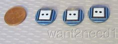 Auth 60s Vtg Lea Stein Buttons 3 Color Blue Layered Square 18mm Set 3 | eBay
