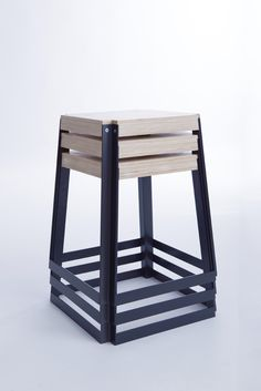 Opla / stackable stool by Moskou Iron Furniture, Steel Furniture, Furniture Design, Stackable Stools, Chairs For Small Spaces, Chic Desk, Wooden Stools, Bar Chairs, Room Chairs