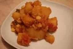 Сытное и вкусное блюдо, с пряным и острым акцентом. Сложно удержаться и не съесть весь чан Потребуется: Картофель — 6 шт, нарезать Кукуруза/горох консервированные — количество по вкусу 2 помидора, нарезать Стручок перца чили или чили паста (1-2 ст.л) Масло горчичное для жарки Кинза — пучок, нарезать Зира — 1 ч.л Самбар масала — 1 Read more...
