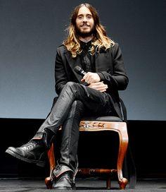 Jared Leto en el escenario del Festival de Cine de Santa Bárbara realizado el martes