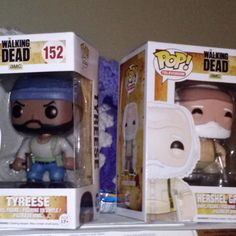 Just picked these guys up tonight... makes a grand total of 5 in my collection! #twd #thewalkingdead #tyrese #hershelgreene #hershel #twdfamily #awesome #funko #funkopopvinyl #funkopop #toys