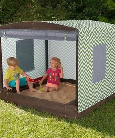 KidKraft Fun in the Sun Cabana Sandbox. A Covered Sandbox with a Shade Tent wrapped around the entire box Our Cabana Sandbox lets kids go on all kinds of Outdoor Toys For Kids, Outdoor Play, Toddler Toys, Ideas Habitaciones, Shade Tent, Sun Shade, Build A Playhouse, Backyard Play, Kids Corner