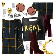 """""""Fall Fashion: Plaid & Velvet"""" by stacey-lynne ❤ liked on Polyvore featuring Janna Conner Designs, Miu Miu, Gucci and Viktoria Hayman"""
