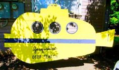 Life Aquatic yellow submarine as decor. We can make this out of cardboard.