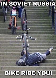 Biking FAIL!!!    Ha ha haaa...crazy Soviets XP