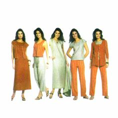 Womens Dress Top Pants Jacket Vest Simplicity 5070 Sewing Pattern