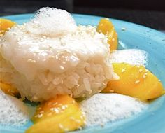 Coconut Mango Sticky Rice with Ginger Air