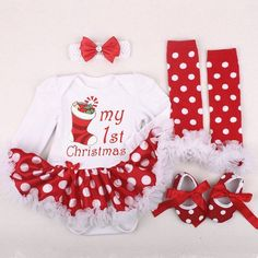 My first Christmas!! This adorable outfit is available at babymea.com. Dont miss out the SALE!! #christmastime #babymea #sale #babygirl #christmasoutfit #myfirstchristmas #babieswithstyle #holidayseason #almostchristmas