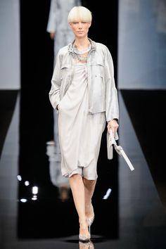 dadb5a6bda Giorgio Armani MFW SS 19 Moda Alta Sartoria, Moda Per Ragazze, Sfilata Di  Moda