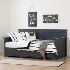 South Shore Furniture South Shore Summer Breeze Twin Daybed with Storage ), Multiple Finishes Twin Daybed With Storage, Bed Storage, Storage Drawers, Hidden Storage, Toddler Furniture, Bed Furniture, Unpainted Furniture, Kitchen Furniture, Rustic Furniture
