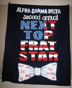 Themes & Events   Banners   Alpha Gamma Delta   love this! next top frat star!