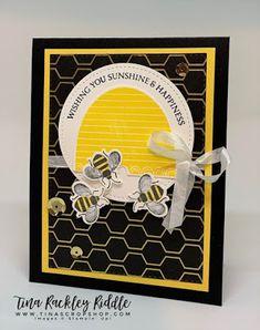Tina's Crop Shop: New Honey Bee Bundle with Stampin' Up! Scrapbook Sketches, Card Sketches, Butterfly Cards, Flower Cards, Birthday Cards, Birthday Images, Birthday Quotes, Birthday Greetings, Birthday Wishes